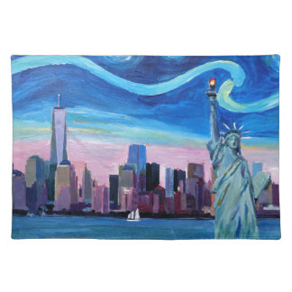 Sternenklare Nacht über Manhattan mit Stofftischset