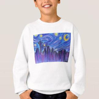 Sternenklare Nacht über Seattle Sweatshirt