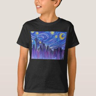 Sternenklare Nacht über Seattle T-Shirt