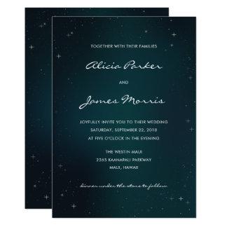 Sternenklare Nacht - unter den Sternen, die 12,7 X 17,8 Cm Einladungskarte