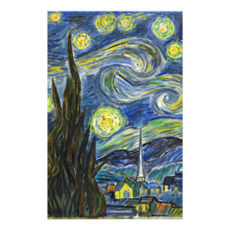 Sternenklare Nacht, Van Gogh Briefpapier