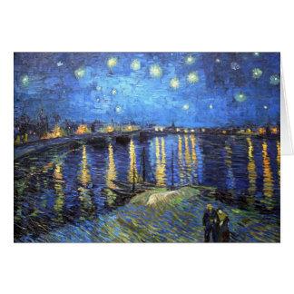 Sternenklare Nacht: Van Gogh Grußkarte