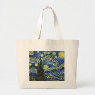 Sternenklare Nacht, Van Gogh Jumbo Stoffbeutel