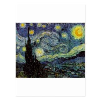 Sternenklare Nacht - Van Gogh Postkarte