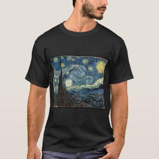 sternenklare Nacht Van Gogh redigieren T-Shirt