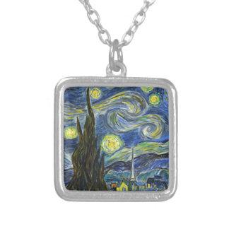 Sternenklare Nacht, Van Gogh Versilberte Kette