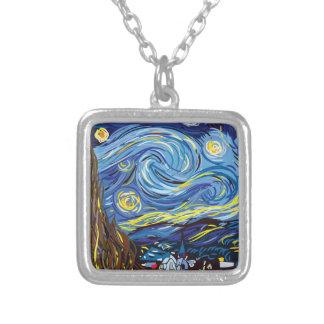 Sternenklare Nacht Van Gogh Versilberte Kette