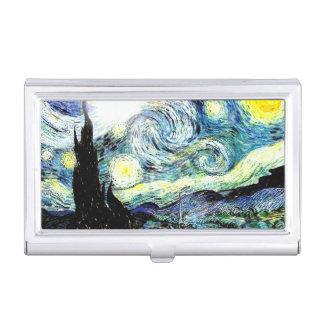 Sternenklare Nacht Van Gogh Visitenkarten Dose