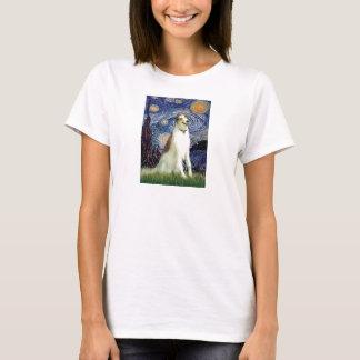 Sternenklare Nacht(vertikal) - Borzoi T-Shirt