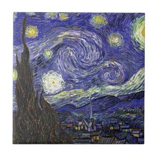 Sternenklare Nacht, Vincent van Gogh. Keramikfliese