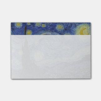 Sternenklare Nacht Vincent van Gogh Post-it Klebezettel