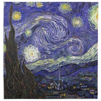 Sternenklare Nacht, Vincent van Gogh. Stoffserviette