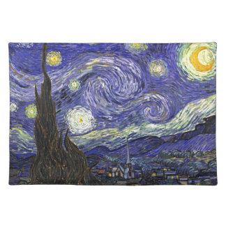 Sternenklare Nacht, Vincent van Gogh. Stofftischset