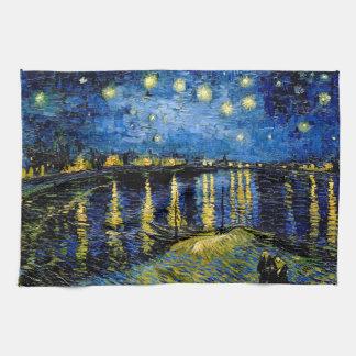 Sternenklare Nacht Vincent van Goghs über der Handtuch