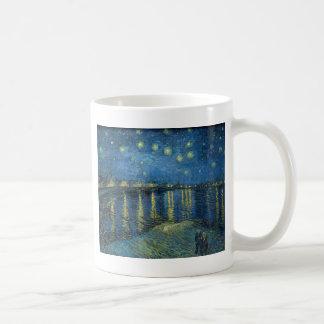 Sternenklare Nacht Vincent van Goghs über der Kaffeetasse