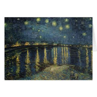 Sternenklare Nacht Vincent van Goghs | über der Karte