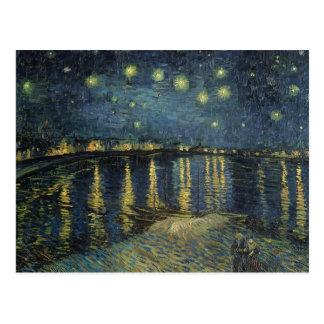 Sternenklare Nacht Vincent van Goghs | über der Postkarte