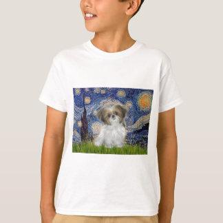 Sternenklare Nacht - Welpe Shih Tzu T-Shirt