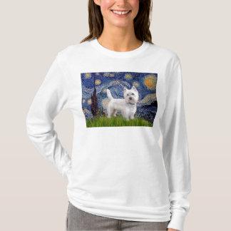 Sternenklare Nacht - Westie 10 (L) T-Shirt
