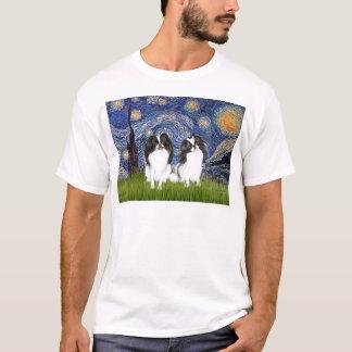Sternenklare Nacht - zwei japanische Kinne (BW) T-Shirt