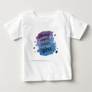 Sternenklare Nächte sind nichts, die mit Ihnen Baby T-shirt