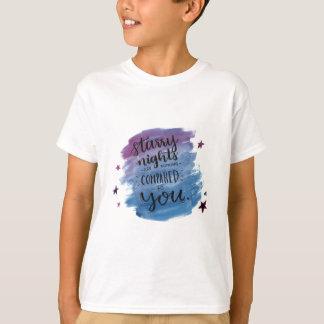 Sternenklare Nächte sind nichts, die mit Ihnen T-Shirt