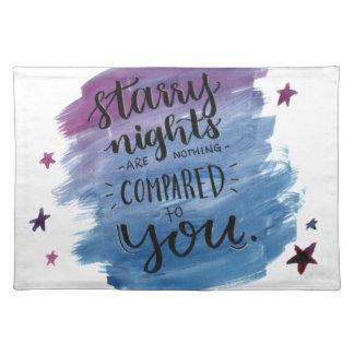 Sternenklare Nächte sind nichts, die mit Ihnen Tischset