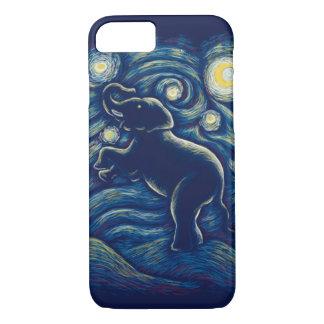Sternenklare Nachtelefanttelefonkasten iPhone 8/7 Hülle
