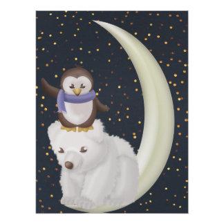 Sternenklare Nachtfreunde Poster
