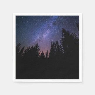 Sternenklare Nachthochzeits-Serviette Papierserviette