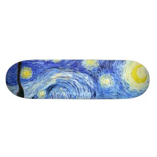 Sternenklare Nachtimpressionismus-Skateboard Van 18,4 Cm Mini Skateboard Deck
