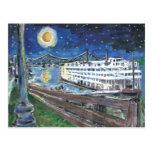 Sternenklare Nachtmississippi-Königin Postkarte