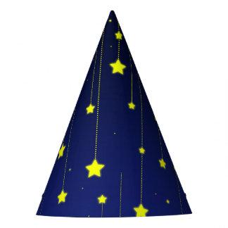 Sternenklare Nachtpapierhut Partyhütchen