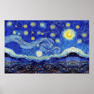 Sternenklare Nachtplakat-verschiedene Größen Poster