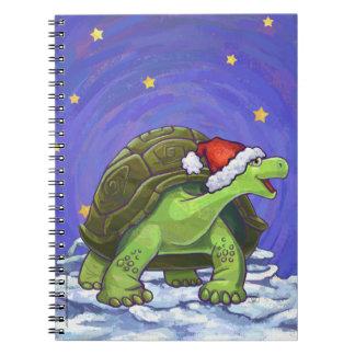 Sternenklare Nachtschildkröten-Weihnachten Notizblock