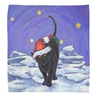 Sternenklare Nachtschwarze Katzen-Weihnachten Halstuch