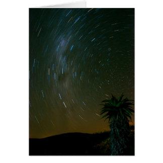 Sternenklare, sternenklare Nachtkarte Karte