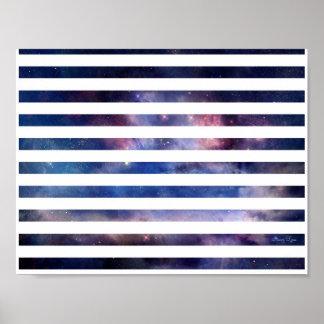 Sternenklare Streifen Poster