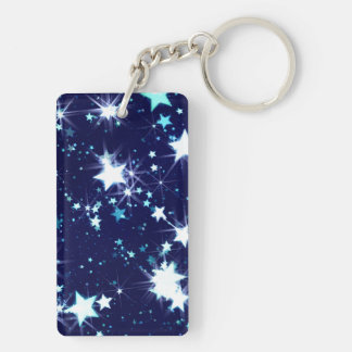 Sternenklarer Feiertag Beidseitiger Rechteckiger Acryl Schlüsselanhänger