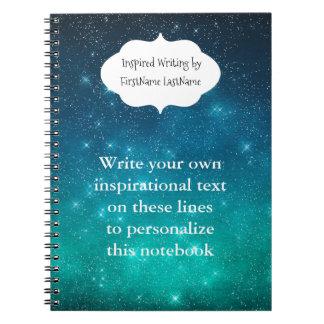 Sternenklarer Himmel-inspirierend Schreiben Spiral Notizblock