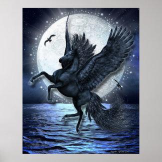 Sternenklarer Mondschein Poster