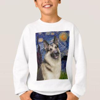 Sternenklarer Nacht(vertikal) - Schäferhund 9 Sweatshirt