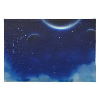 Sternenklarer nächtlicher Himmel Stofftischset