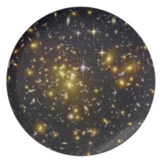 Sternenklares elegantes Abendessen Flache Teller
