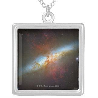 Sternexplosion-Galaxie M82 Versilberte Kette