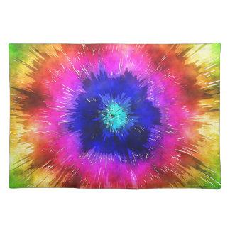 Sternexplosion-gefärbte KrawatteWatercolor Stofftischset