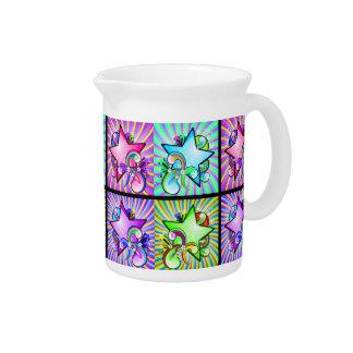 Sternexplosion-Kaleidoskop der Regenbogen-Farben Krug