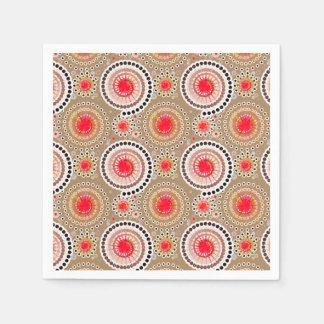 Sternexplosionen und Pinwheels, Taupe, Rot, weiß Papierserviette
