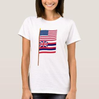 Sternflagge US 50 auf Pfosten mit Hawaii T-Shirt