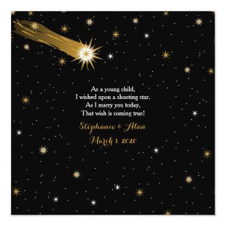 Sternschnuppen-romantische Hochzeits-Einladung Karte